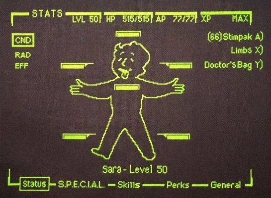 glow in the dark fallout 3 cross stitch