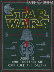 Star Wars Dark Side Sampler Cross Stitch