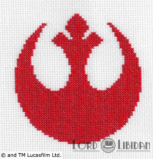 Star Wars Rebel Logo Cross Stitch