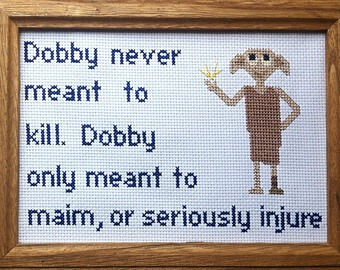 Dobby the House Elf Harry Potter Cross Stitch (source: google images)