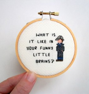 sherlock cross stitch little brains
