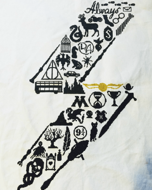 Sampler Harry Potter Cross Stitch large