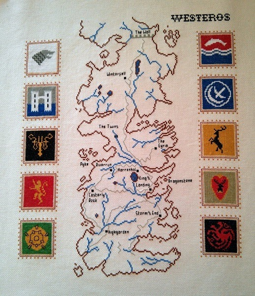 Game Of Thrones cross stitch by RandomlyGenerated (source: Etsy.com)