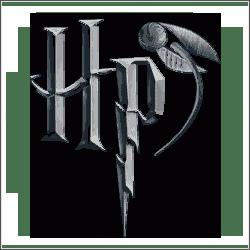 harry potter hp logo cross stitch pattern