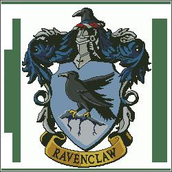 harry potter ravenclaw v3 cross stitch pattern