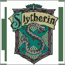 harry potter slytherin v4 cross stitch pattern