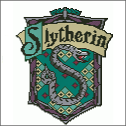 harry potter slytherin v4 cross stitch pattern