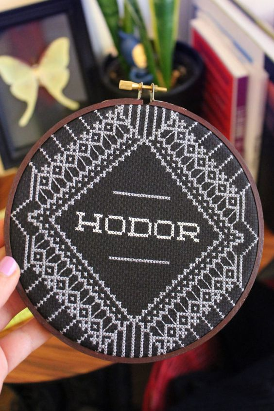 Hodor Game Of Thrones Cross Stitch by PinsandWeevils (source: Etsy)