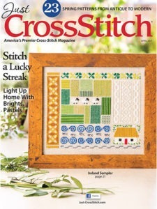 just cross stitch magazine cover