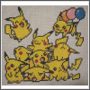 pikachu pile free cross stitch pattern