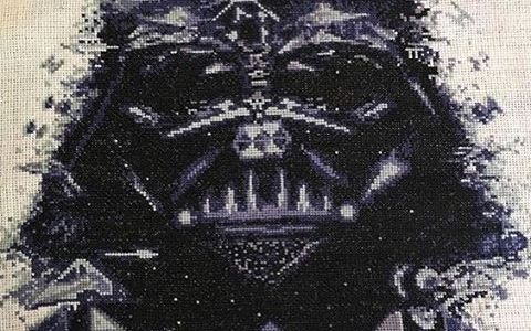 Darth Vader Star Wars Cross Stitch by VelvetPonyDesign (source: Etsy)