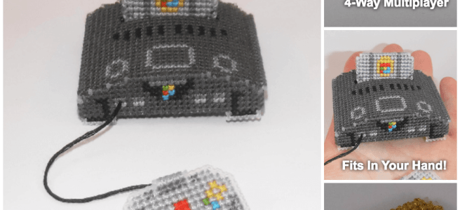 Nintendo64 Micro Console Cross Stitch by Lord Libidan