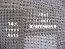 aida and evenweave together