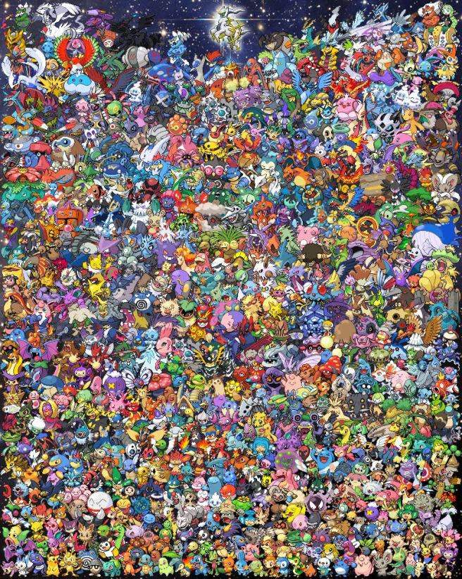 epic pokemon all generations cross stitch