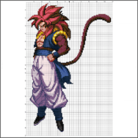 Super Saiyan 4 Gogeta Dragon Ball Z free cross stitch pattern