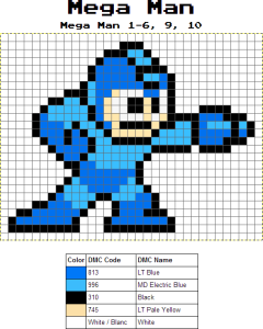 megaman free cross stitch pattern pdf