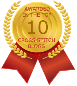 Awarded in the top 10 cross stitch blogs Image