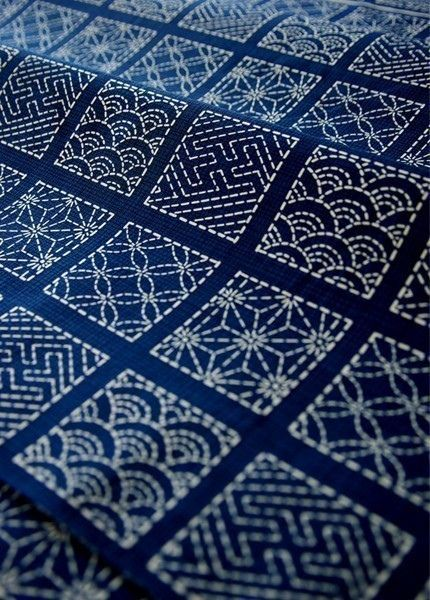 Modern Sashiko Japanese Embroidery (source: pinterest.com)
