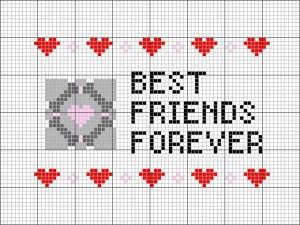 best friends forever portal cross stitch pattern