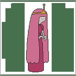 free adventure princess bubblegum cross stitch pattern