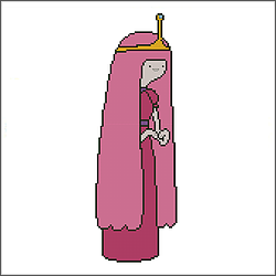 free adventure princess bubblegum cross stitch pattern