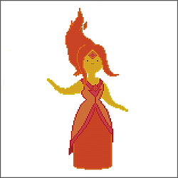 free adventure time flame princess cross stitch pattern