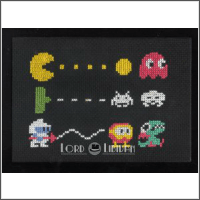 retro video games free cross stitch pattern