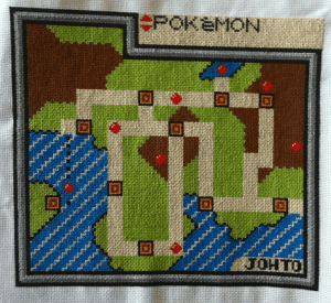 pokemon johto map cross stitch by kdstitching