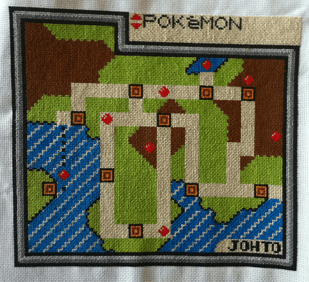 pokemon johto map cross stitch by kdstitching (source: Etsy)