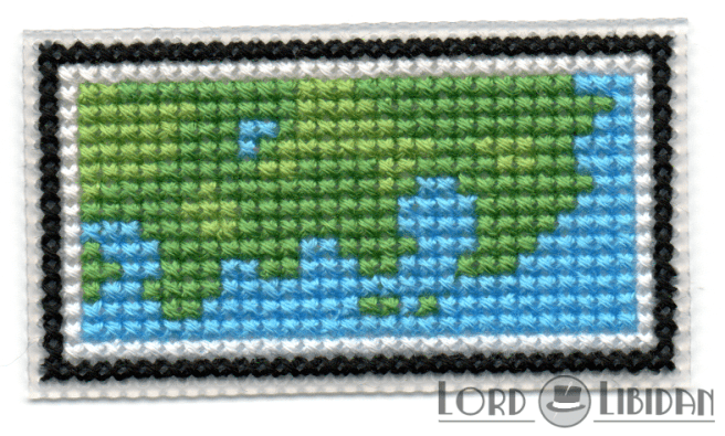Pokemon Mini Map Cross Stitch by Lord Libidan