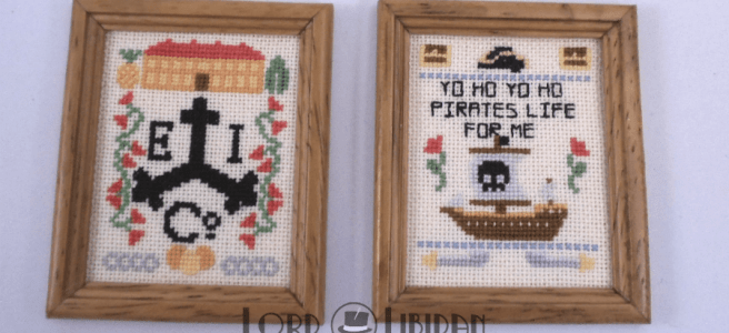 Pirate cross stitch samplers by Lord Libidan