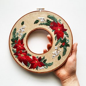 double hoop embroidery by namaste embroidery (source: namastehandembroidery.com)