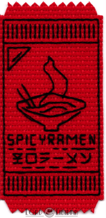 Destiny 2 Expired Ramen Coupon Embroidery by Lord Libidan