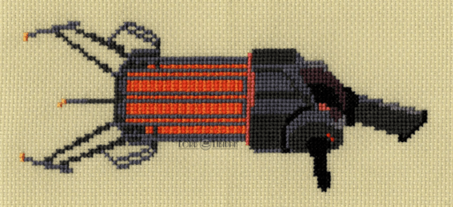 Half Life Gravity Gun Cross Stitch by Lord Libidan