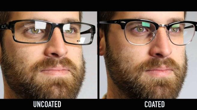 Glasses with anti-glare coating (Source: youtube)