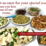 Let us cater your event when you hire one of our rooms.