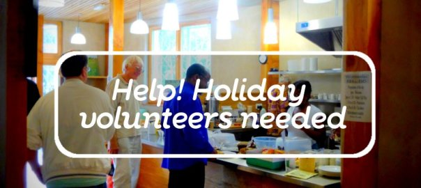 help holiday volunteers needed