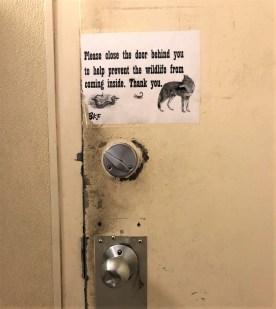 Warning toilet Amerika