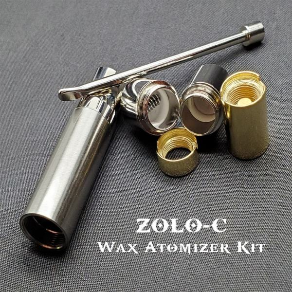 ZOLO-C Wax atomizer kit for waxy concentrates including wax sugar shatter