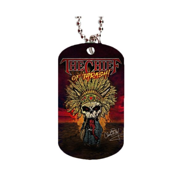 Chuck Billy The Chief Of Thrash Dog Tag Merchandise Collection gifts concerts him her