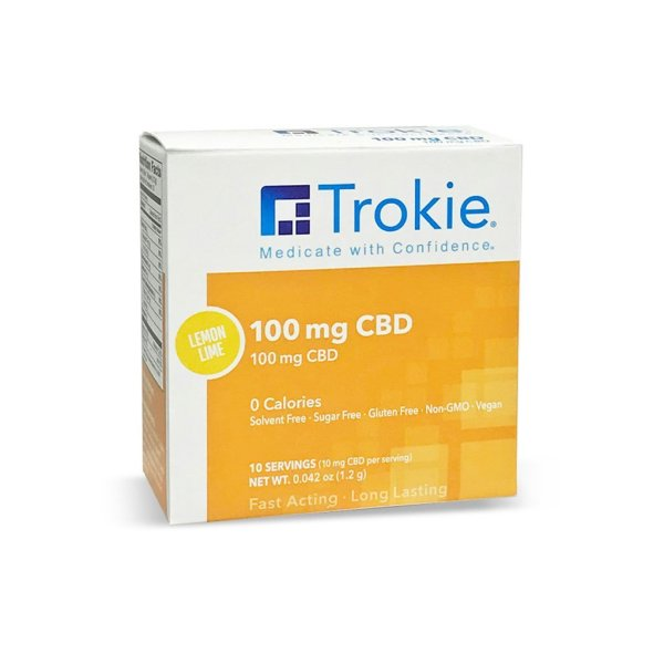 Trokie 100mg CBD lozenges that melt away pain with highest bio-availability and highest absorption rate