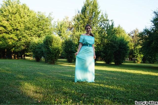 rochie-lunga-turcoaz-zaful-curea-verde-iarba