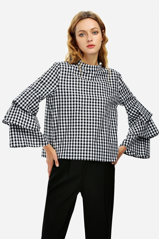 Blouse Shirt black and white ZANSTYLE