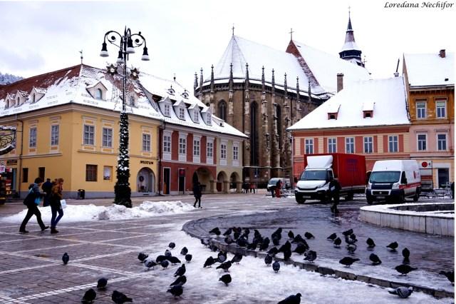 Piata Sfatului din Brasov iarna