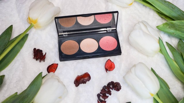 Paleta trio de contur, iluminare, blush Golden Rose