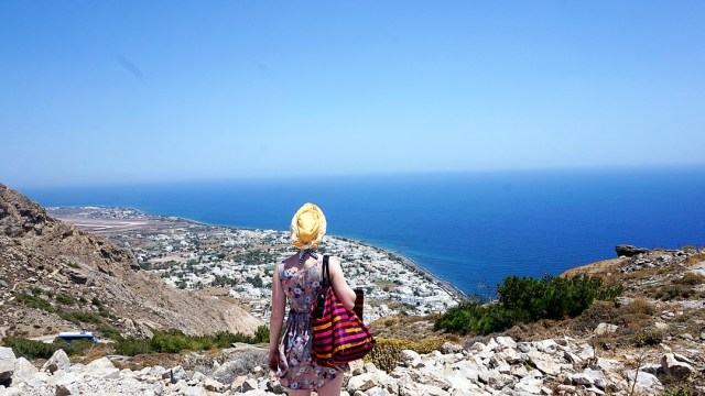 view from Ancient Thira