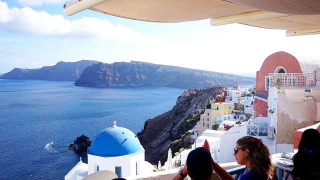 view in Oia, Santorini