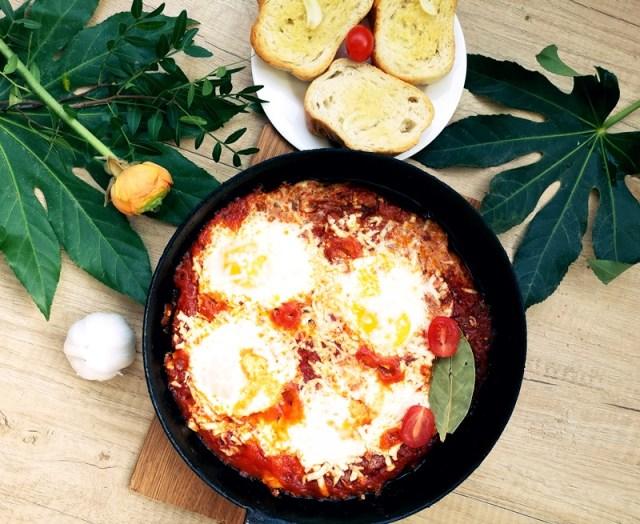 italian eggs baked - lorys blog