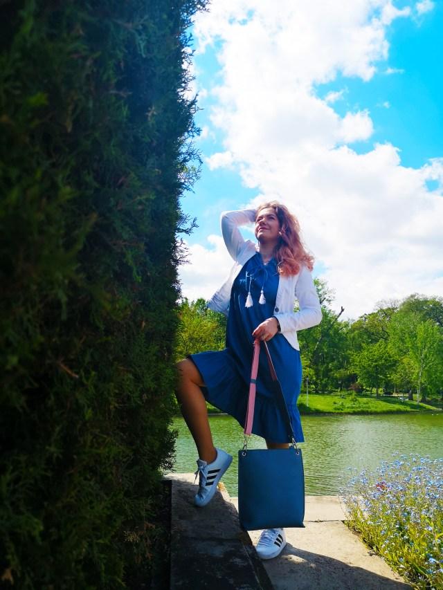 BonPrix Denim Dress spring sporty casual outfit - lorys blog