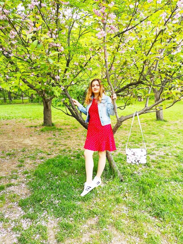 tinuta comfy rochie cu buline BonPrix - lorys blog